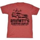 Back to the Future Emmett's Custom Autos T-Shirt
