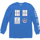Doctor Who Police Call Box Tardis Long Sleeve Crew T-Shirt