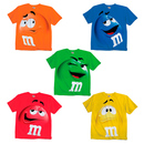 M&M's Candy Silly Character Face Adult T-Shirt