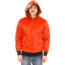 Elmo Red Faux Fur Full Zip Hoodie Jacket