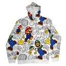 Luigi Allover Mens Zip-Up Sweatshirt Hoodie