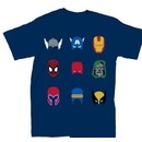 Marvel Comics Characters Simple Helmets T-Shirt