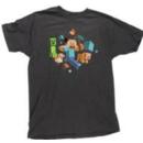 Minecraft Game Steve Run Away! Creeper Glow in the Dark T-Shirt