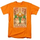 Aquaman Portrait Box Orange T-shirt