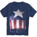 Captain America Faded Belt Print Costume T-shirt