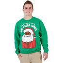 Big Papa Noel Fleece Ugly Christmas Xmas Sweater Sweatshirt
