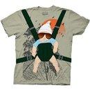 Alan Baby Bjorn With Graphic Human Tree Dark Khaki T-Shirt