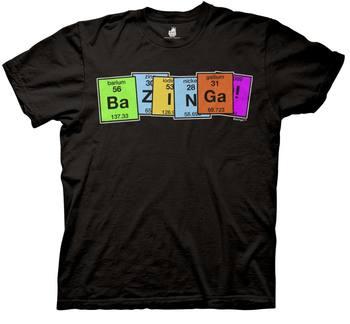Bazinga Periodic Table Adult Black T-Shirt