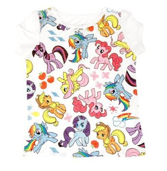 My Little Pony Rainbow of Characters All Over Toddler White T-Shirt