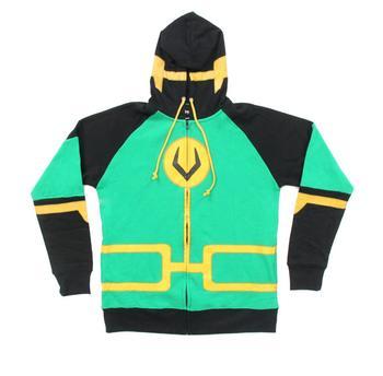 Kid Loki Symbol Zip Up Costume Hoodie Sweatshirt