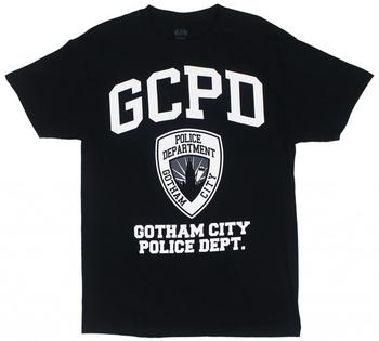 Batman GCPD Gotham City Police Department T-shirt