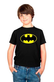 Batman Yellow Logo Youth T-shirt