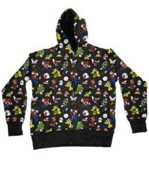 Nintendo Mario All Over Hooded Sweatshirt Hoodie