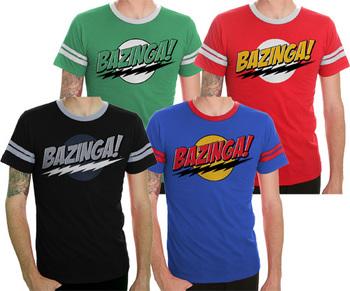 The Big Bang Theory Bazinga! T-shirt with Stripes