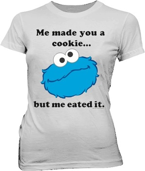 Sesame Street Cookie Monster Me Eated It T-shirt