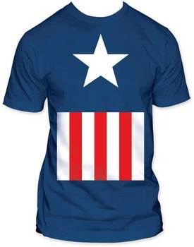 Captain America Suit Fitted Adult T-Shirt