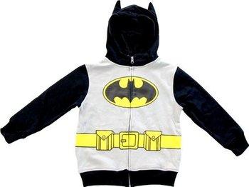 Batman Logo Boys Zip Up Costume Hoodie Sweatshirt