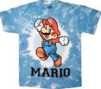 Nintendo Mario Cheer White Dyed T-shirt