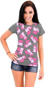 Pinkie Pie All Over Juniors Dark Gray T-shirt