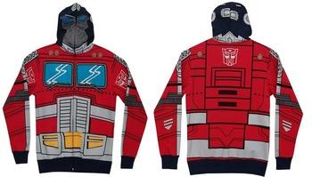 Optimus Prime Adult Zip Up Costume Hoodie Sweatshirt