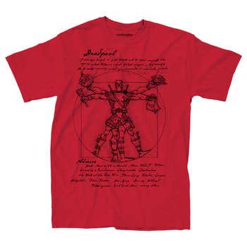 Deadpool Vitruvian Drawing T-shirt