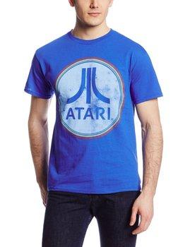 Atari Faded Logo Adult Royal Blue T-shirt