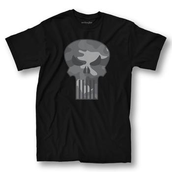 The Punisher Camo Logo T-shirt