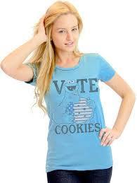 Sesame Street Vote Cookies Cookie Monster T-Shirt
