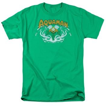 Aquaman Splash Green T-shirt Tee