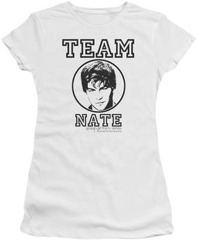 Gossip Girl Team Nate White T-shirt
