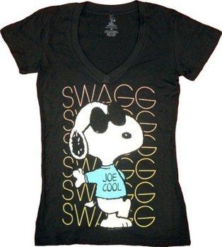 Peanuts Swagg Snoopy Joe Cool V-Neck T-shirt