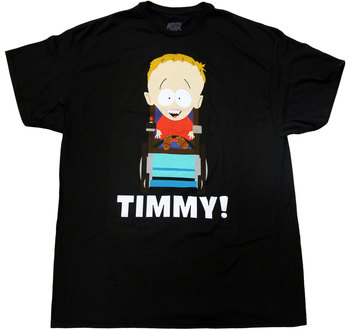 South Park Timmy On Wheelchair T-Shirt Tee