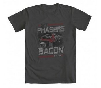 Star Trek Set Phasers To Bacon T-Shirt