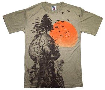 The Hangover Alan Human Tree Dark Khaki T-Shirt