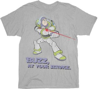 Toy Story Buzz Lightyear At Your Service T-shirt