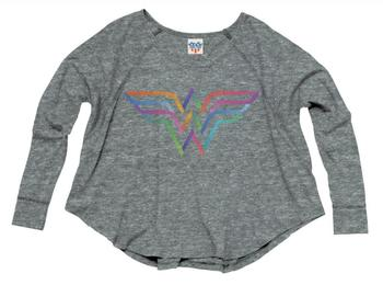 Wonder Woman Rainbow Logo Long Sleeve T-Shirt