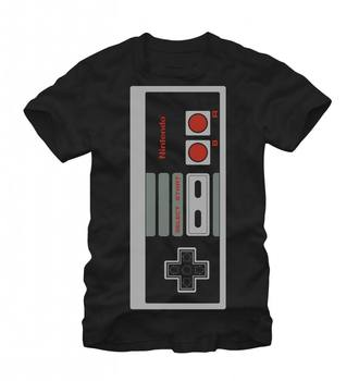 Nintendo Big Controller Adult Black T-Shirt