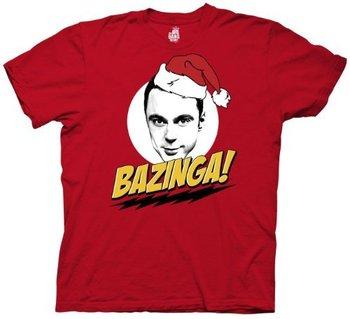Sheldon Cooper Bazinga Santa Hat Adult T-Shirt