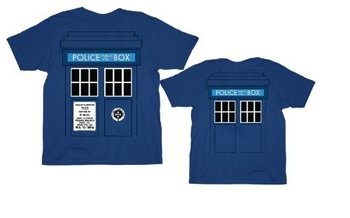 Doctor Who Daleks Tardis Police Box T-Shirt