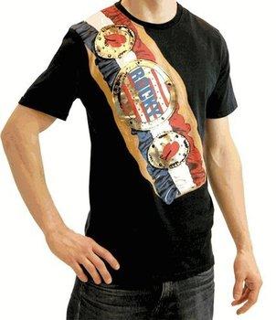 Rocky Balboa Championship Belt on Shoulder T-shirt