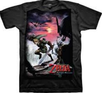 Nintendo Legend of Zelda Twilight Princess Scene T-shirt