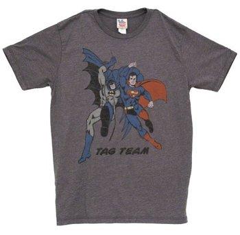 Batman and Superman Tag Team Vintage Inspired T-Shirt