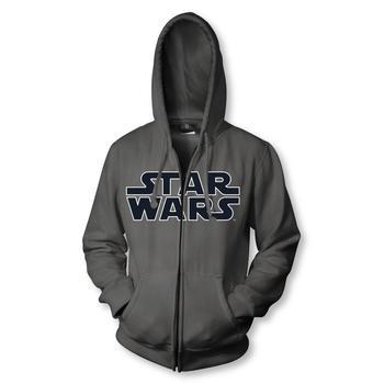 Logo Charcoal Zip Up Sweatshirt Hoodie