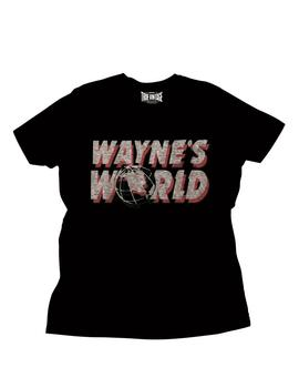 Wayne's World Logo Adult Black T-Shirt