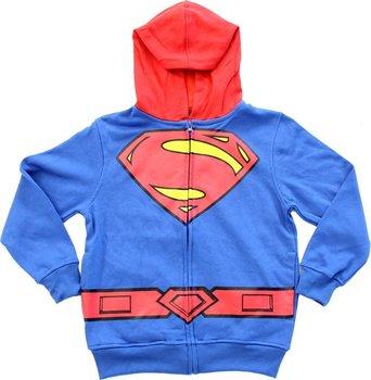 Superman Logo Boys Zip Up Costume Hoodie Sweatshirt