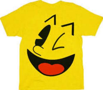 Pac-Man Big Face Yellow T-shirt