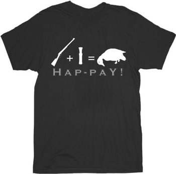 Rifle + Pistol Bullet = Dead Duck Hap-pay! T-shirt