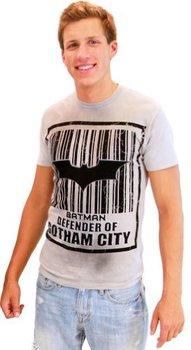 Batman Barcode Defender of Gotham City T-Shirt