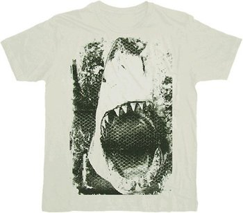 JAWS Mouth Screen White T-shirt