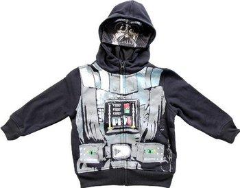Star Wars Darth Vader Black Zip Up Costume Hoodie Sweatshirt